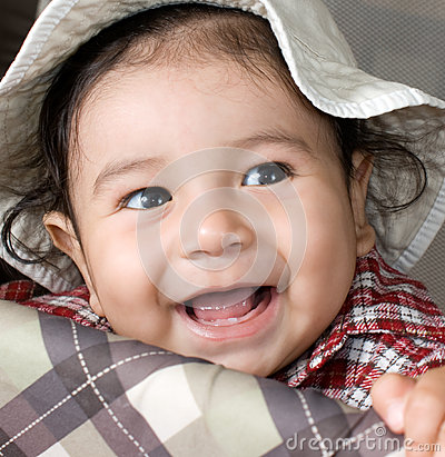 Happy Baby Smiling Royalty Free Stock Photos - Image: 26091958