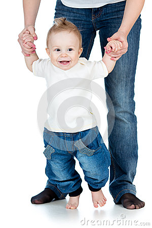 Happy baby steps first time isolated