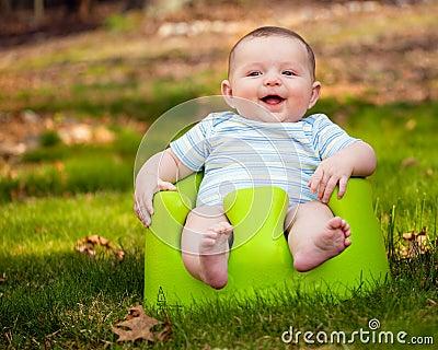 Happy baby using training set
