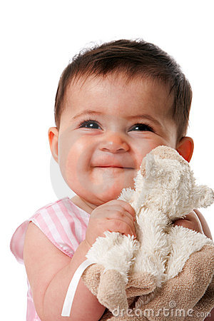 Free Happy Baby With Security Blanket Stock Images - 14944444