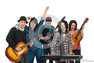 Happy  band singing