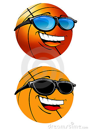 Happy basketball cartoon Illustration