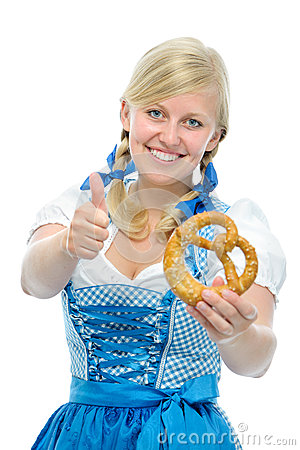 Happy bavarian girl