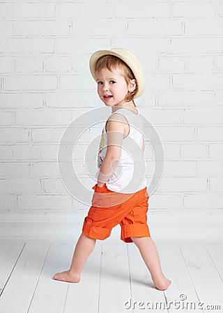 Free Happy Beautiful Baby Girl Dancer Dancing  Hip Hop Dance Royalty Free Stock Photos - 53029578