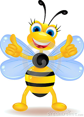 Free Happy Bee Cartoon With Blank Sign Royalty Free Stock Photos - 27397138