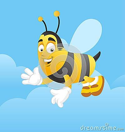 Happy bee greeting