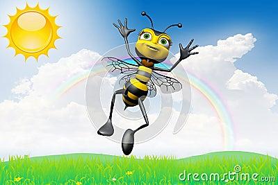Happy bee sunny day