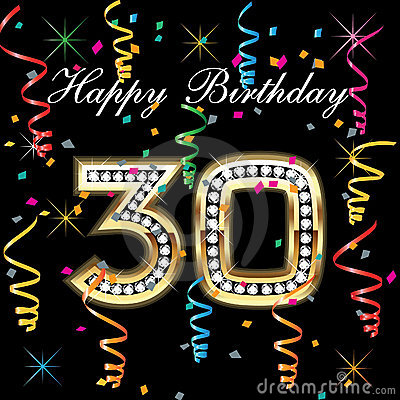 Awesome Happy Birthday 30 Royalty Free Stock Photos Image 19222258 Personalised Birthday Cards Petedlily Jamesorg
