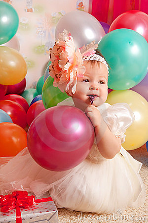 Free Happy Birthday Baby Royalty Free Stock Image - 17823976