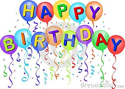 Happy Birthday Balloons/eps