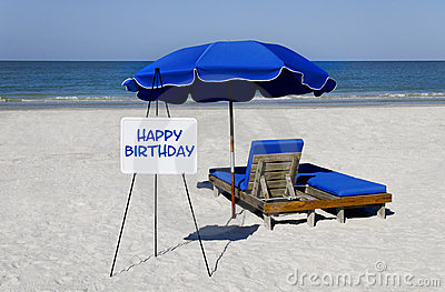 Happy Birthday Beach Sign Royalty Free Stock Image Image