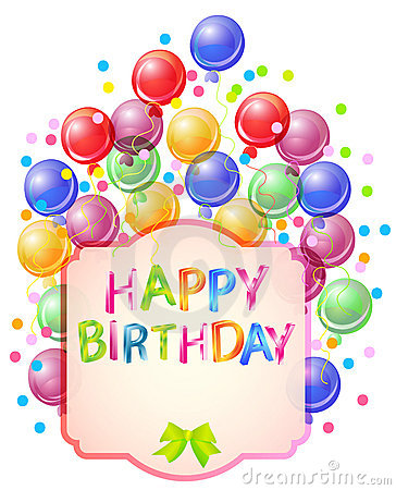 Happy birthday bright card