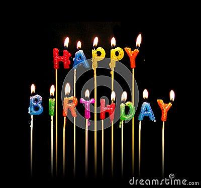 Free Happy Birthday Candles Stock Photo - 675770