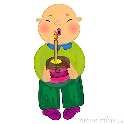 Happy Birthday Cardcartoon Baby Boy Royalty Free Photos – Cartoon Birthday Greetings