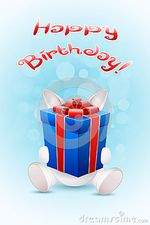 Happy Birthday Card with Gift
