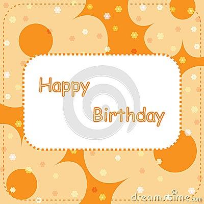 Happy birthday card - orange