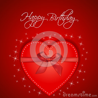 Happy Birthday red card