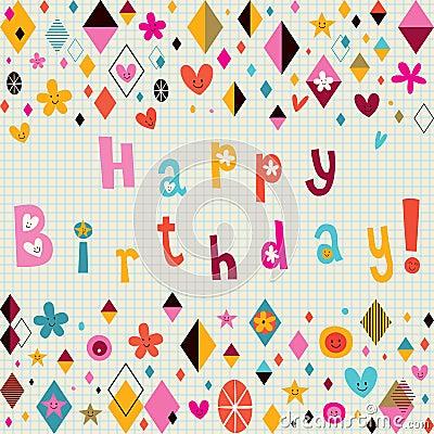 Stock Photos Happy Birthday: quoteko.com/happy-birthday-retro-style-myniceprofile.html