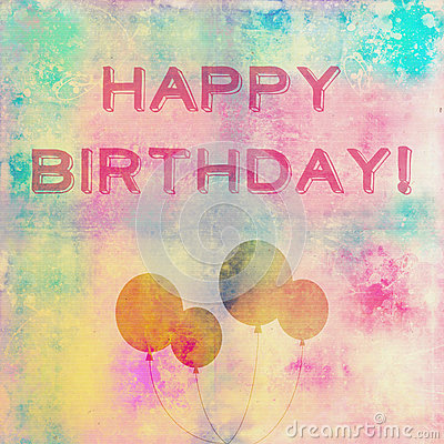 Happy Birthday Card Stock Images Image 32661594