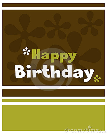 Happy birthday card - vector