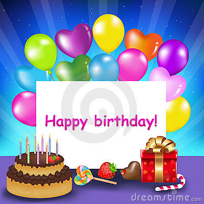 Happy Birthday Card. Vector