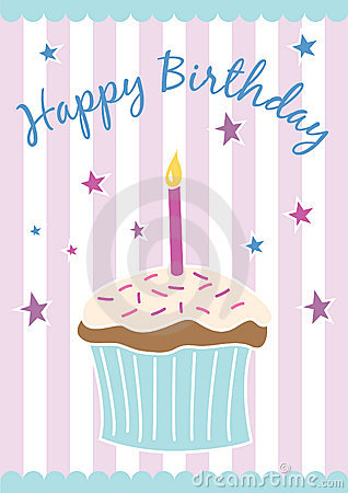 Happy birthday card (vector)