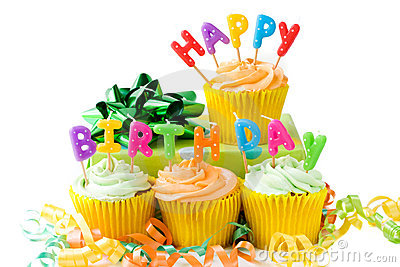 Happy Birthday Cupcakes Stock Image - Image: 8526321