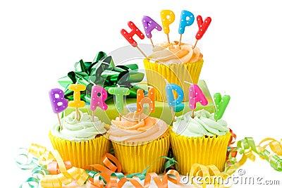 Happy Birthday Cupcakes Stock Image - Image: 8526321