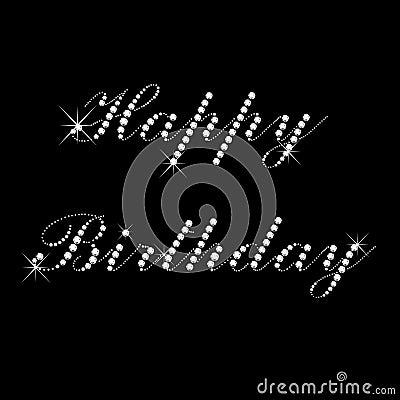 Happy Birthday With Diamonds Stock Images Image 22137864