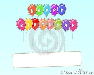 Happy Birthday Floating Sign