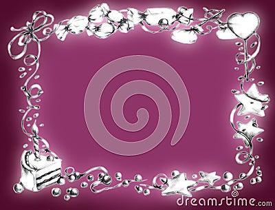 Happy birthday frame - pink