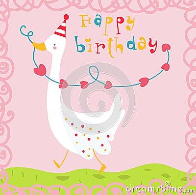 Happy birthday funny goose card