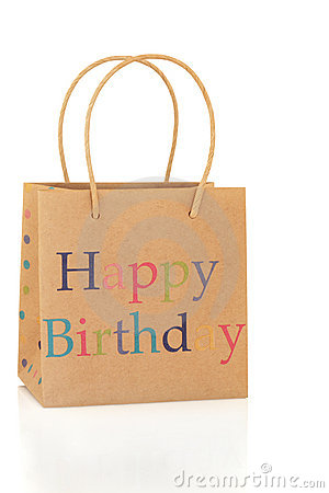 Happy Birthday Gift Bag Royalty Free Stock Photos Image
