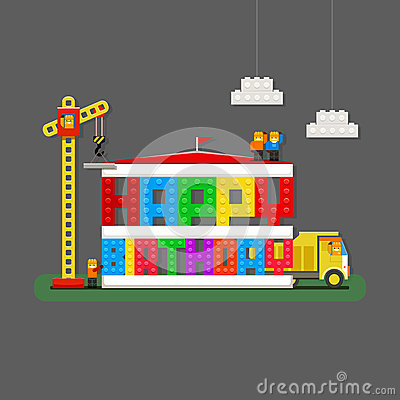 Happy Birthday Greeting Card With Builders Truck And