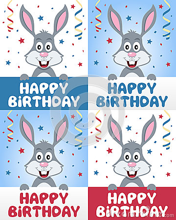 Happy Birthday Bunny Rabbit
