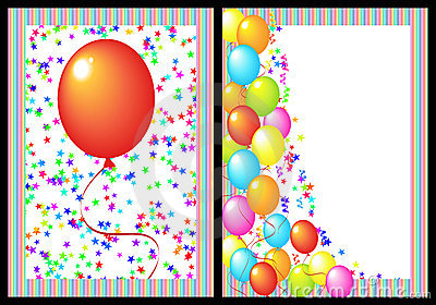 Happy birthday greeting card front and back