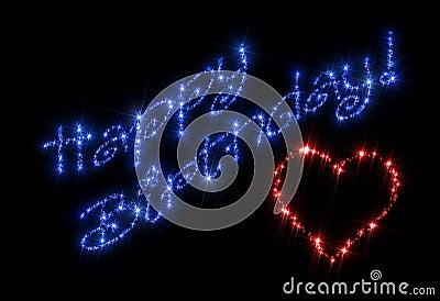 Happy Birthday Heart Stock Image  23409361