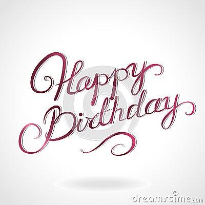 Happy Birthday Lettering Royalty Free Stock Photo Image