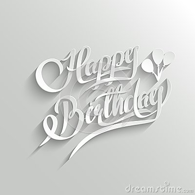 Happy Birthday Lettering Greeting Card Stock Vector - Image: 47588893