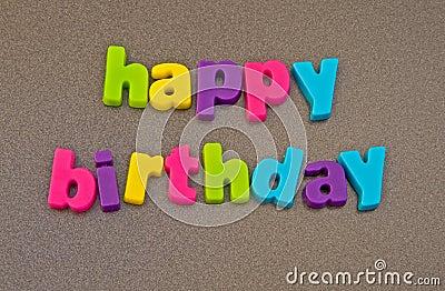 Happy birthday message.