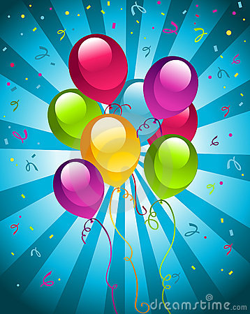 Happy Birthday Party balloons