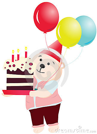 Happy Birthday Party bear vector