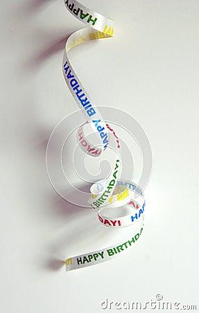 Free Happy Birthday Ribbon Stock Photos - 5639563