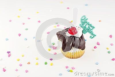 Happy Birthday Sundae Cupcake