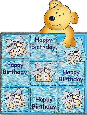 Happy birthday with teddy bear