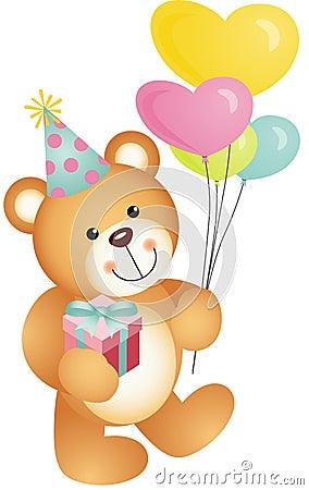 happy birthday teddy bear stock image image 30752701