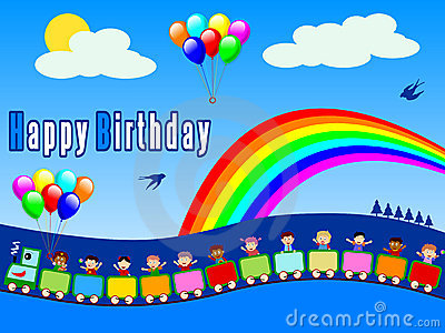 Happy Birthday Train - Boy
