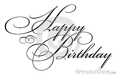 Happy Birthday Type