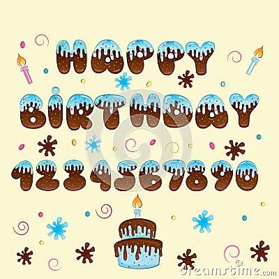 Happy Birthday vector hand lettering