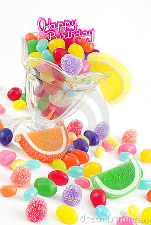 Free Happy Birthday With Assorted Candies Stock Images - 8939604